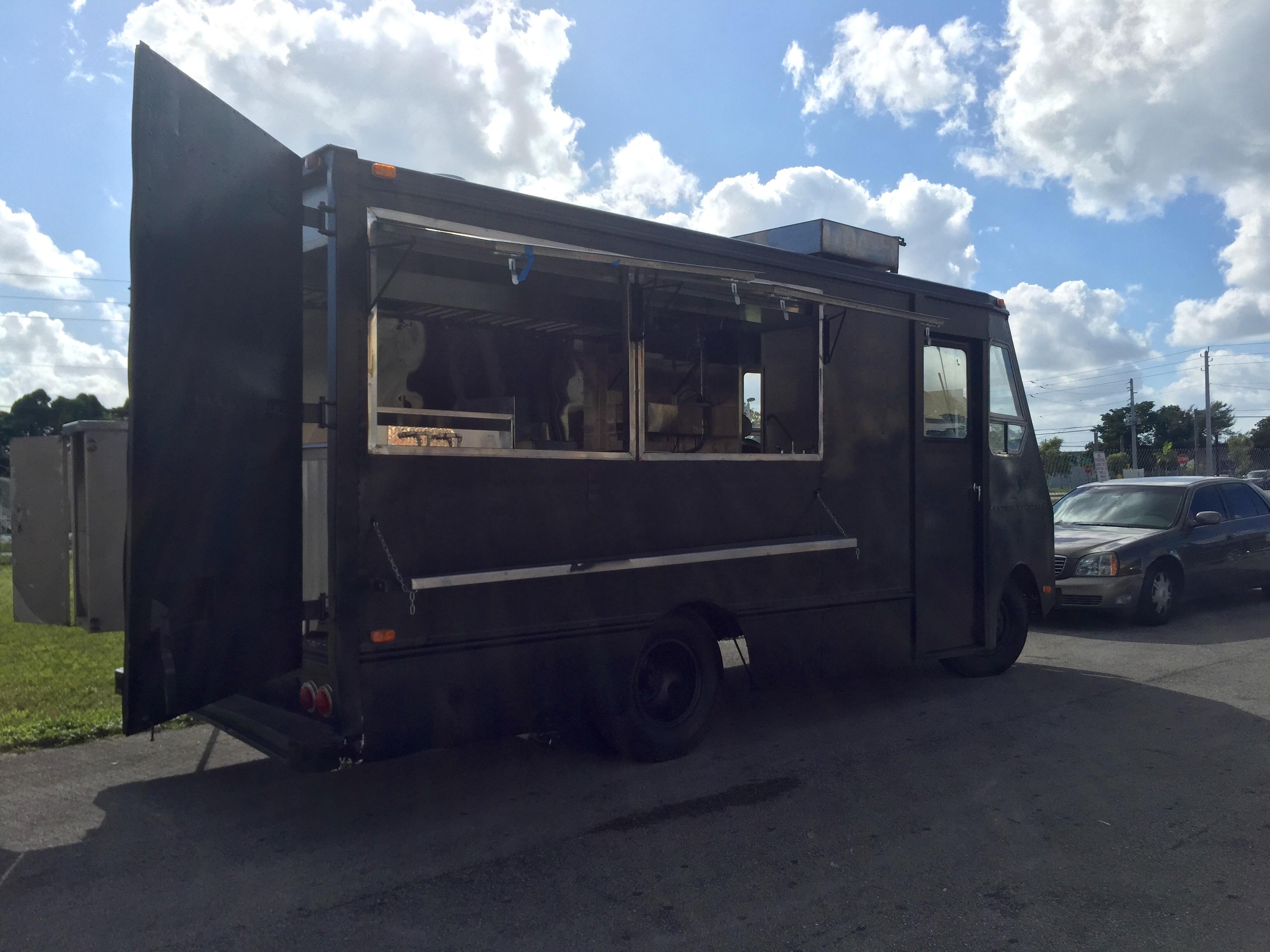 black food truck. Black Bedroom Furniture Sets. Home Design Ideas